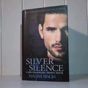Photo of UK edition cover of Silver Silence by Nalini Singh
