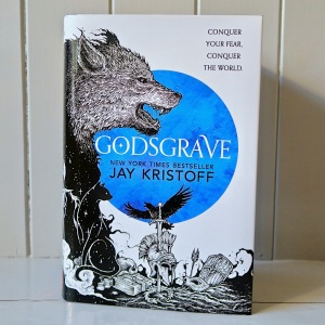 Picture of the cover of the UK hardback edition of Godsgrave by Jay Kristoff.