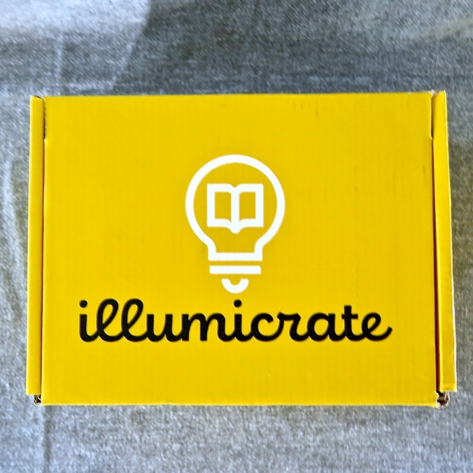 Yellow Illumicrate box from the top. Displays Illumicrate logo.